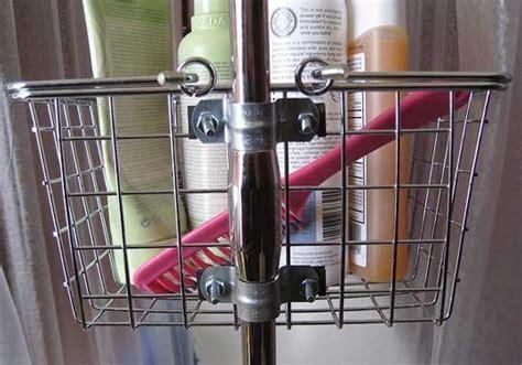 riser mounted shower caddy  clawfoot tub