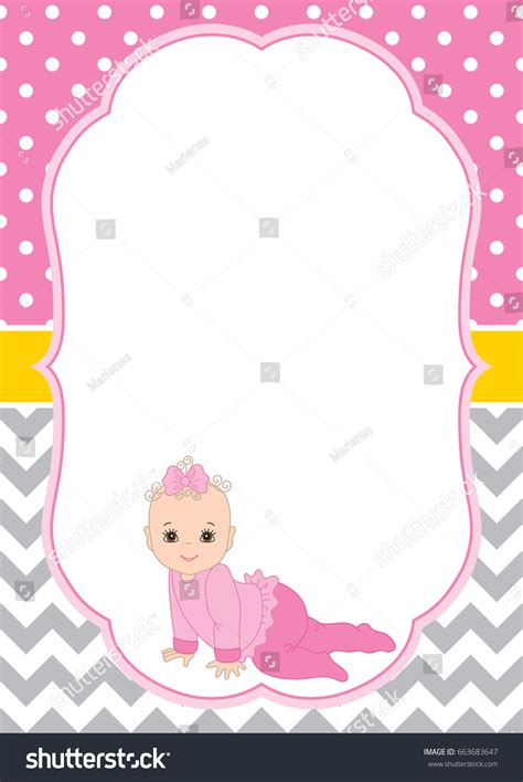 Baby Shower Card Templates The Image Vector Card Template Baby Stock Vector 663683647