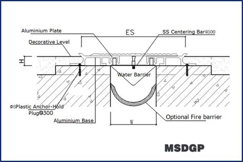 easy install floor to floor metallic expansion joint cover