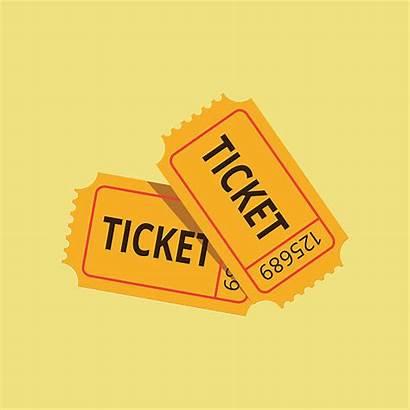 Ticket Vector Raffle Draw Lucky Clip Illustration