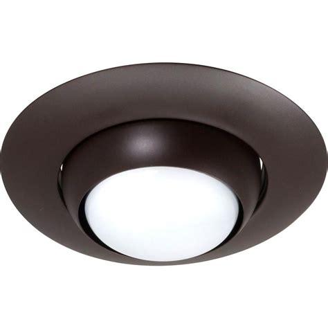 recessed lighting eyeball replacement nicor 6 in oil rubbed bronze recessed eyeball trim