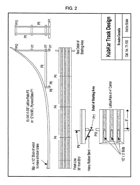 Patent US20020195502 - Pinewood derby track made from