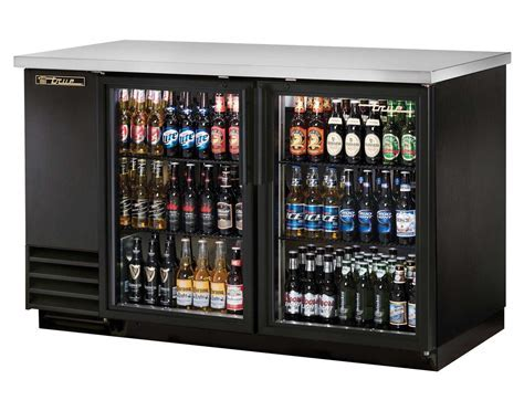 True TBB 2G HC LD 37in High, Two Section, Back Bar Cooler