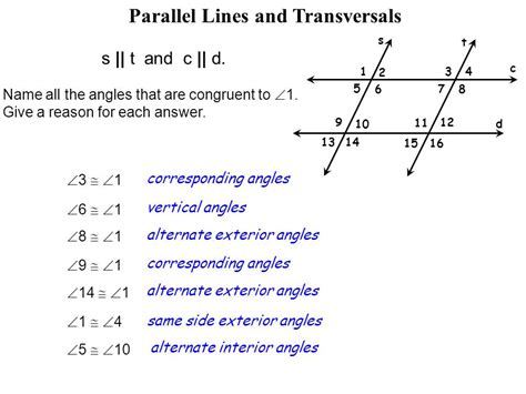 lesson 2 6 parallel lines cut by a transversal ppt