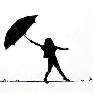 Girl Holding Umbrella Silhouette | Little Girls On Little ...