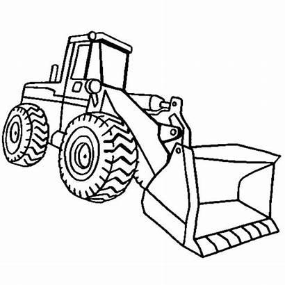 Coloring Construction Pages Loader Excavator Preschool End