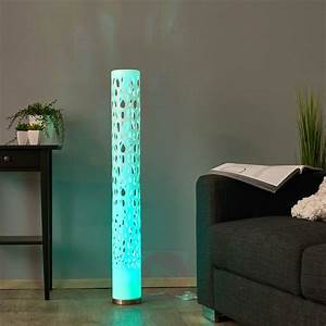 Decorative rgb led floor lamp alisea lightscouk for Mexico led floor lamp