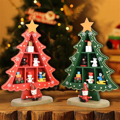 Wooden Decorations - desk table top mini wooden tree decorations