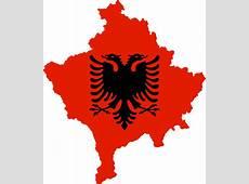 FileKosovo with flag of Albaniasvg Wikimedia Commons