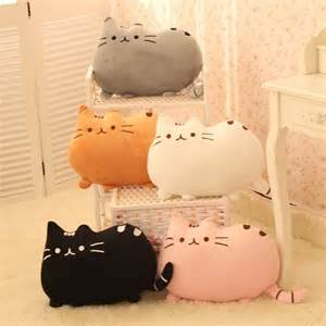 pusheen cat pillow plush animals cats and pusheen cat on