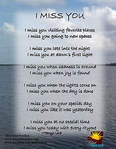 I Miss You - A poem | The Grief Toolbox