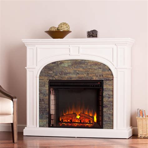 stacked electric fireplace granby 45 75 in w stacked effect electric fireplace