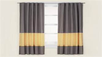 blackout drapery yellow and gray striped curtains grey