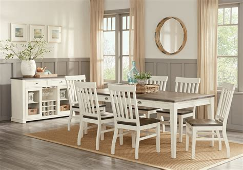 dineing room keston white 5 pc rectangle dining room dining room sets