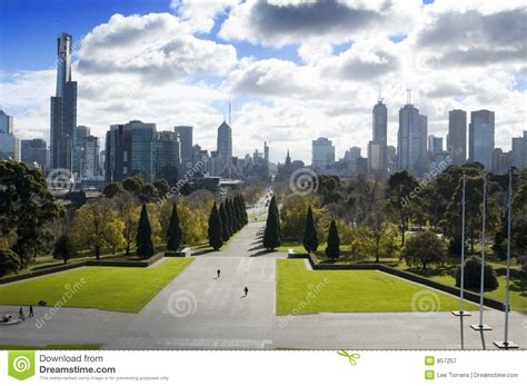 melbourne city park royalty  stock photography image