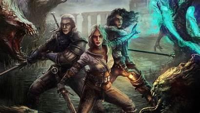 Witcher Ciri Geralt Yen Hunt Wild Wallpapers