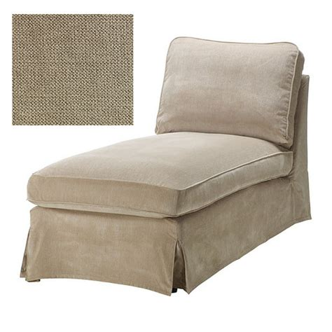 ikea ektorp chaise longue cover slipcover vellinge beige free standing lounge