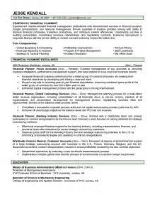 resume summary statement for customer service skill resume financial planner resume sle free financial advisor resume exles entry
