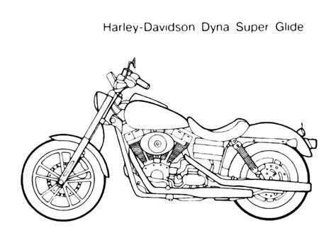 moto harley davidson modello dyna da colorare gratis