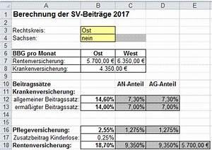 Sv Beitrag Berechnen : excel aufgaben zur rentenversicherung ~ Themetempest.com Abrechnung