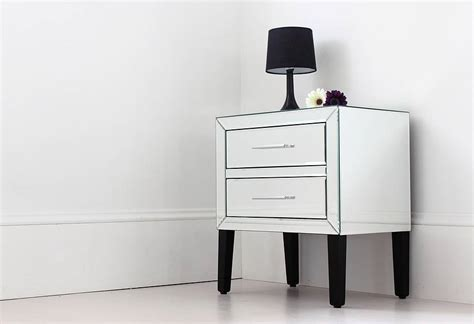 touch bedside table ls mirrored bedside park mirrored bedside table mirrored