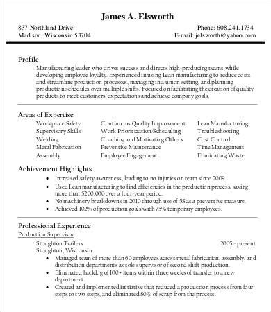 printable product manager resume templates