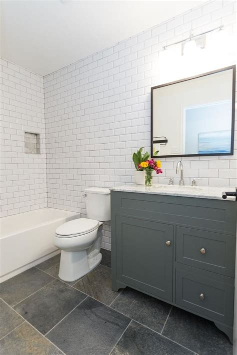 Modern Bathroom White Subway Tile by East Modern Farmhouse Just Completed Decor