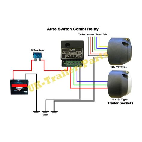 amp  type  tecm  switching dual charge relay towing  trailers