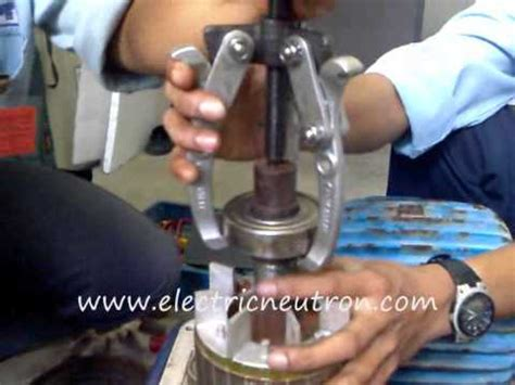 replace bearing  induction motor youtube