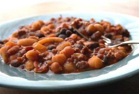 crock pot baked beans baked beans in the crock pot recipe dishmaps
