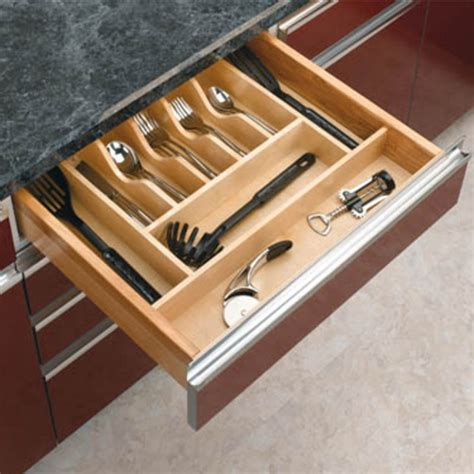 Kitchen Depot Ct by Drawer Organizers Rev A Shelf Wood Cutlery Tray Drawer