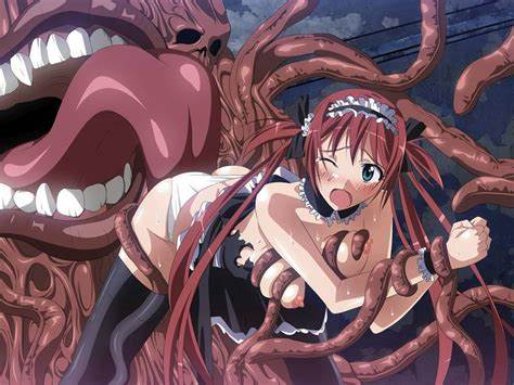 Anime Student Stretched By Tentacles
