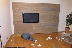 Laminat An Die Wand : tv wand 3 hifi bildergalerie ~ Frokenaadalensverden.com Haus und Dekorationen