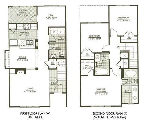 modern town house  story house plans  bedrooms