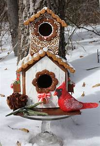 Gingerbread House  Pine Cone  And Sprig  The Cardinal Is