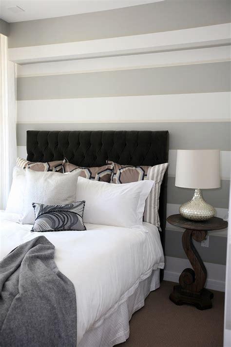 Gray And White Room Decor - velvet tufted headboard contemporary bedroom the