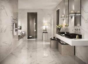 carrelage salle de bain les tendances les plus en vogue With carrelage marbre salle de bain