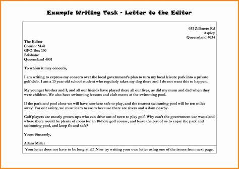 formal letter  news editor letters  sample letters
