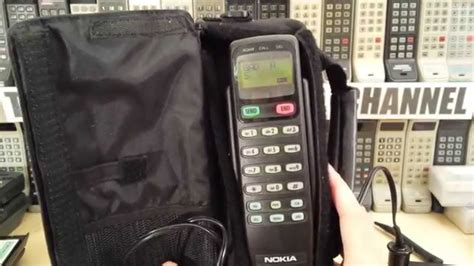 1990s cell phone nokia c15 bag phone from early 90s