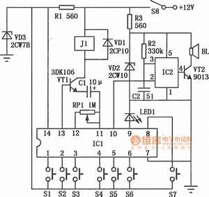 automotive electronic password lock circuit diagram With automotive electronic circuits