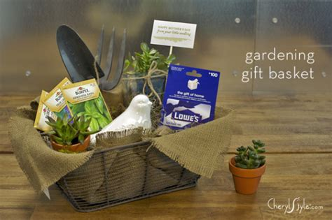 garden lovers gift basket pinlaviecom