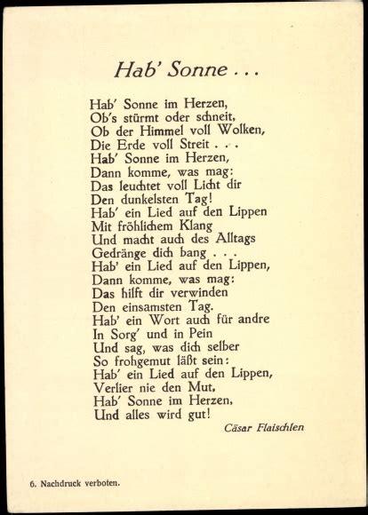 gedicht ansichtskarte postkarte hab sonne von caesar