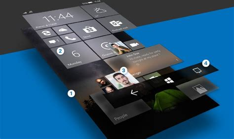 windows 10 mobile ce nouveau concept fluent design