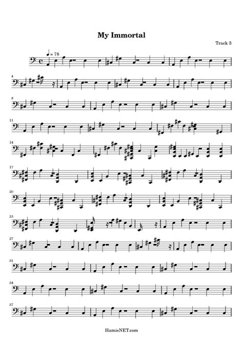 Unique Evanescence My Immortal Chords Gift - Song Chords Images ...