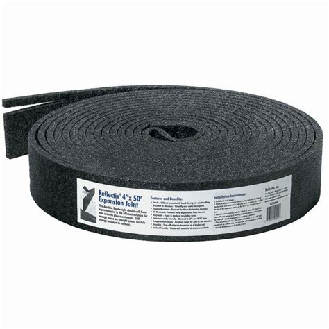 reflectix 4 in x 50 ft expansion joint for concrete exp04050 the home depot
