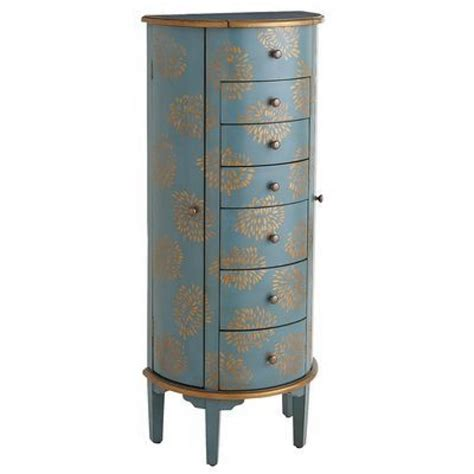 Blue Jewelry Armoire by 100 Outstanding Jewelry Armoires Zen Merchandiser