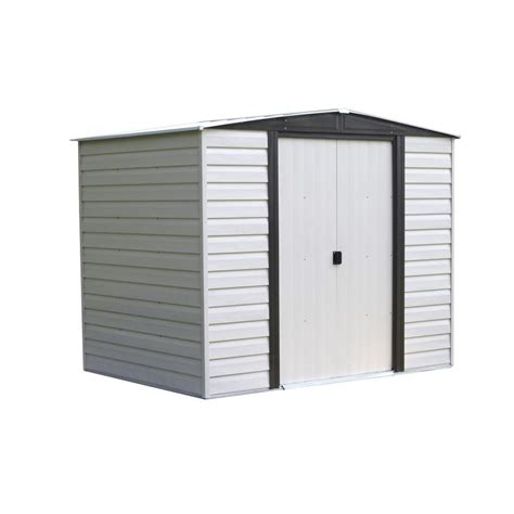 arrow storage shed assembly shop arrow vinyl coated steel storage shed common 8 ft x