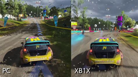 forza horizon 4 xbox one forza horizon 4 comparison xbox one x vs pc max settings