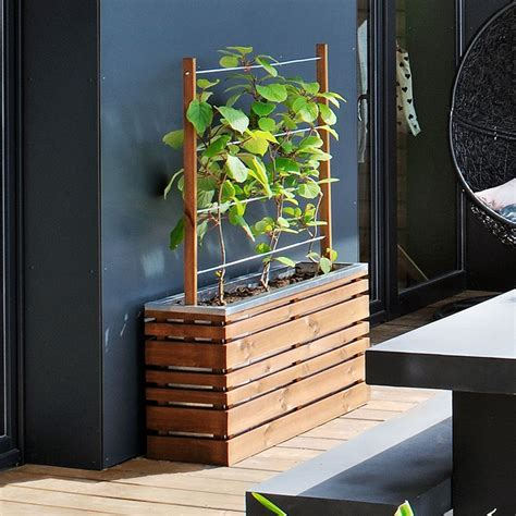 bac 224 fleurs avec treillis bois trait 233 l100 h130 cm lignz plantes et jardins