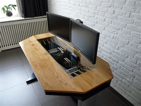 how to build a computer desk builds the ultimate pc desk hybrid